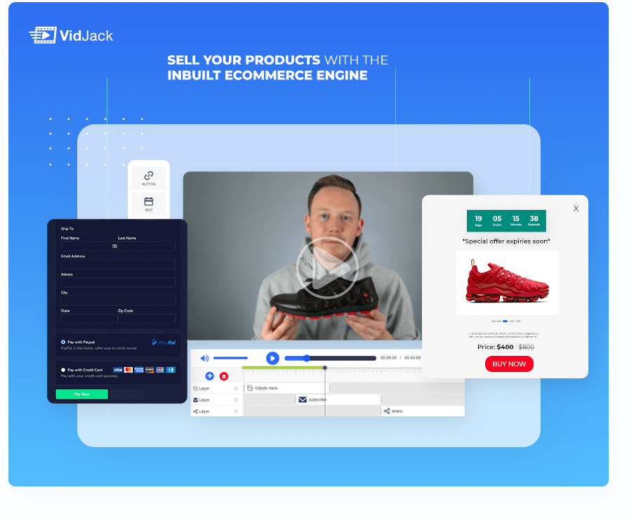 VidJack Sell Your Products With The Inbuilt Ecommerce Engine